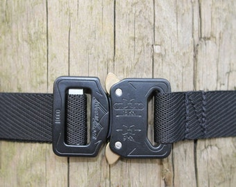 "UKOM Lightweight 1"" AustriAlpin Cobra Buckle Black Belt All sizes"