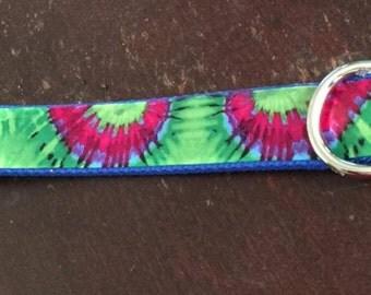 Green Tye dye collar -19-22 inch neck size