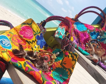 Ethnic Embroidered Shoulder Bag fun Colors