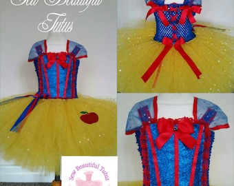Snow white inspired Girl tutu dress - Fun Party Outfit Fancy Cute Birthday princess Photoshoot