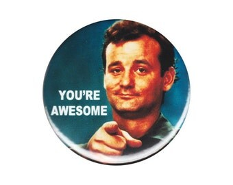 You're Awesome Bill Murray Meme Button Badge Pin