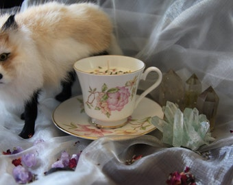 Lavender Tea Cup Candle