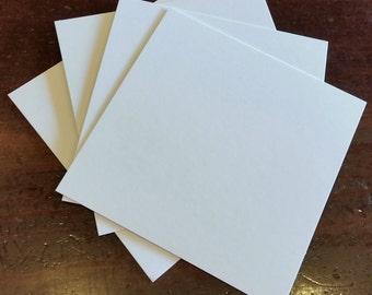 """300- 3""""x3"""" Blank White Squares."""