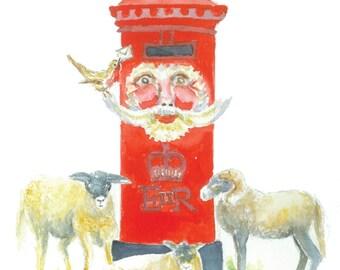 Christmas postbox card