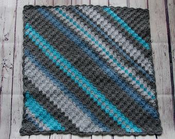 Diagonal Stripe Baby Blanket