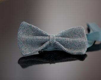 Crochet fly knit Fly, silk wool mix, grey-silver-bottles Green