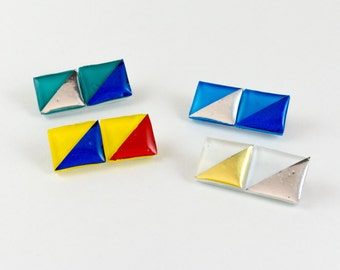 Tile brooch