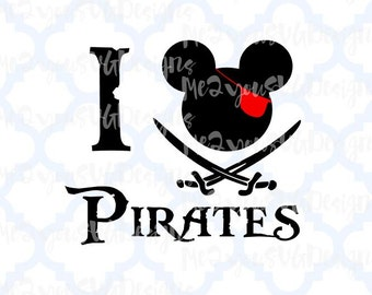 I Love Pirate SVG,EPS,PNG,Studio