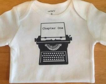 Chapter One baby onesie - Typewriter onesie