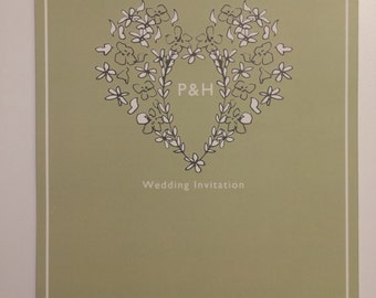 Heart Doodle Wedding Invitations