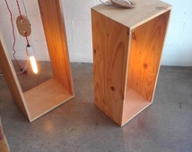Wooden Wire Holders for exposed electrical cables or ropes -Functional Australian made décor for cafe and home owners.
