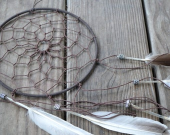 Large Dreamcatcher / dreamcatcher (available with multiple authentic natural crystal gemstone beads)