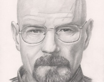 Walter White A4 Pencil Drawing