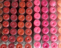Organic Mango Butter lip balm bundle (set of 3 or 5)- 12 tints- natural lip gloss