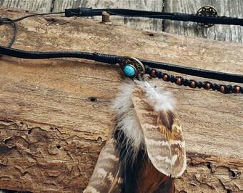 Headpiece headband feathers