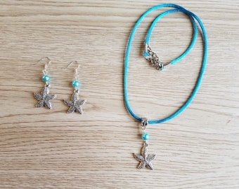 Ocean Style. Necklace and earrings Set