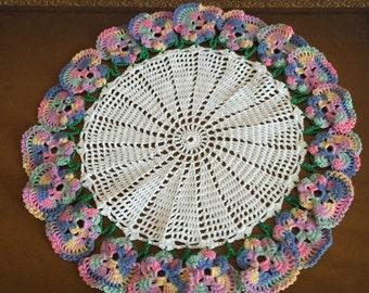 Doily - Multi-color flower edge