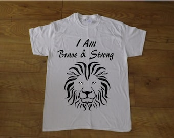 I am Brave & Strong Kids T-Shirt Design