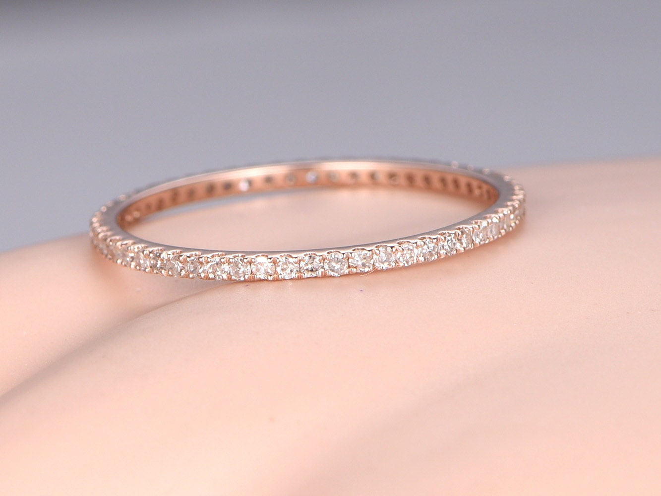Pave Diamond Engagement Rings Wedding Bands Asymmetric Cushion Cut ...