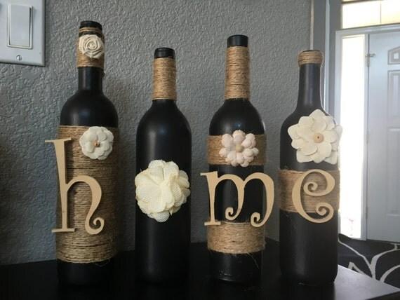 home wine bottles home decor home wine bottle decor wine. Black Bedroom Furniture Sets. Home Design Ideas