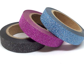 SALE - Slim Glitter Washi Tape - 3 pack