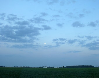 Farm with Moon-Scape