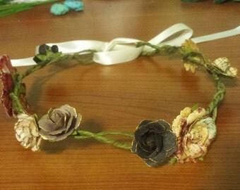 Warm Tones Flower Crown