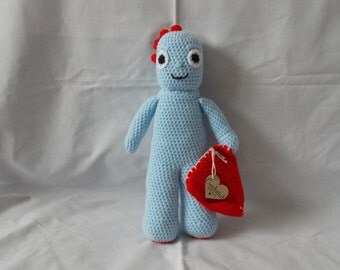 Crochet 'Iggle Piggle' from 'In The Night Garden' childrens books/tv.