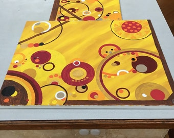 Abstract paintings (set)