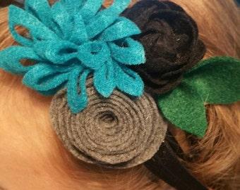 Multi-flower headband