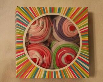 Deluxe Girls Onesie Cupcake Baby Shower Gift Set