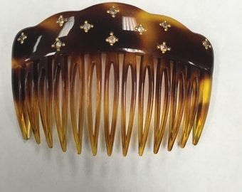 Vintage side combs signed france