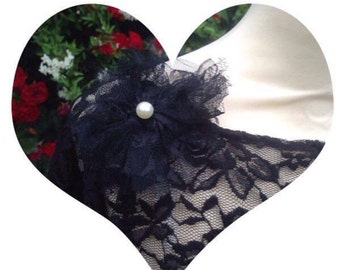 lace shrug black