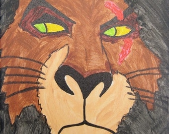 Scar from Lion King painting