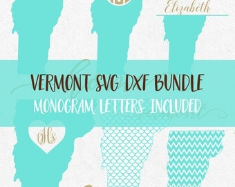 Vermont Svg Bundle Dxf Svg files for silhouette svg files for cricut svg Svg monograms Svg monogram frames svg mermaid pattern svg design