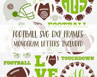 Football Svg, Football Mom Svg, Football Designs Svg, Football Monogram Svg, Football Helmet svg, fall svg, monogram frames svg