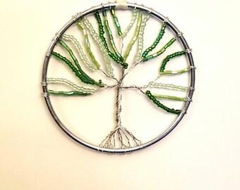 Green Tree Of Life Dream Catcher