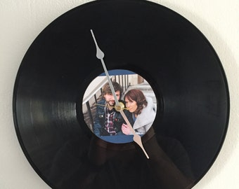 Custom Vinyl Record Clock