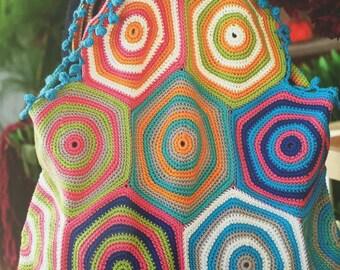 Handmade Crochet Hexagon Handbag