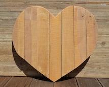 Way wooden heart