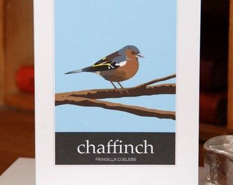Greetings Card of a Chaffinch (Card ID: WOSB008)
