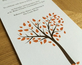 Falling in Love - Fall wedding invitation can be done in any colour