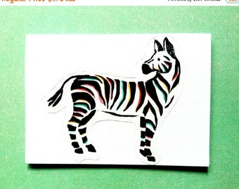 ON SALE Zebra Blank Card & Envelope