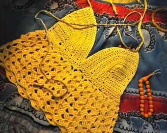 Top crochet NEROLI