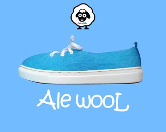 Wool shoes, felt shoes, felted shoes, wool slip ons, wool moccasins