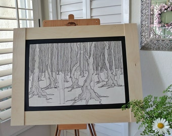 Forest: Original Pen and Ink Drawing