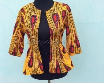 Emma Royalty Jacket// African jacket, Ankara jacket, African print jacket, African fabric, African print