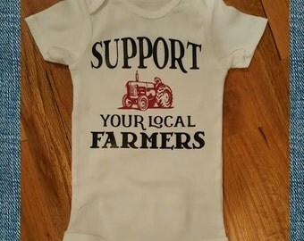 Support your local farmers onesie