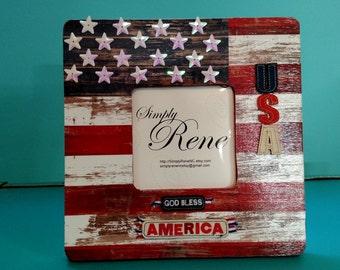 God Bless USA Frame