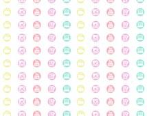 Printable Planner Social Media Icon Stickers